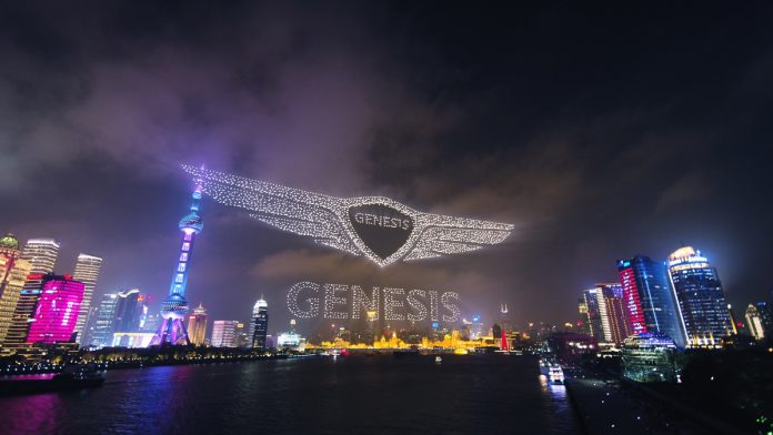 Genesis China 3000 drones world record