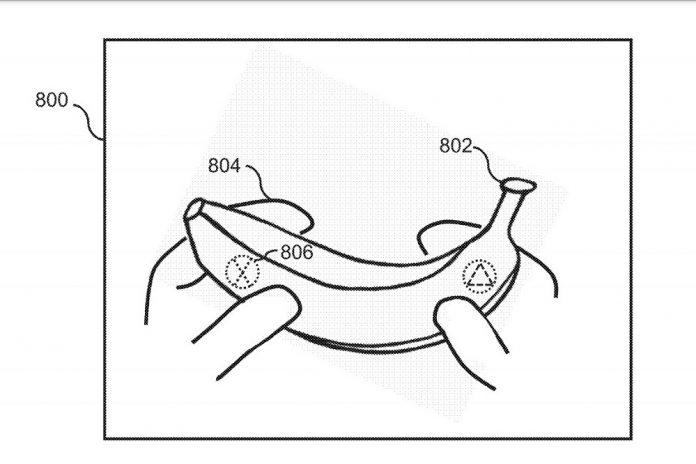 Sony banana controller patent