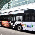 Sarawak comenzará mañana el servicio gratuito de autobuses eléctricos en Kuching