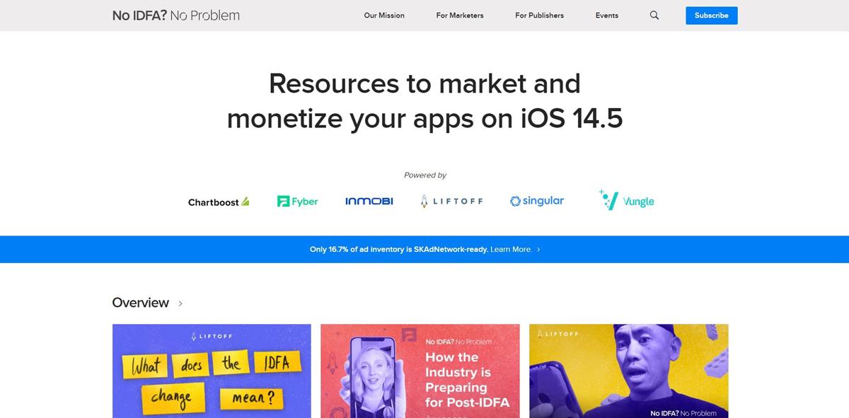 Anunciantes móviles después de la Alianza IDFA Apple iOS 14.5 Cambios de privacidad