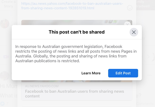 Facebook Bans Australians From Sharing and Viewing News Contents On Its Platform