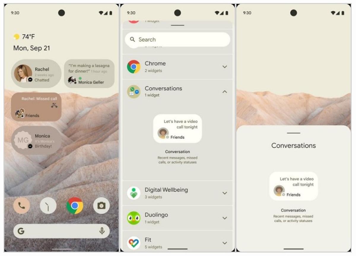 Fugas en la maqueta de Android 12