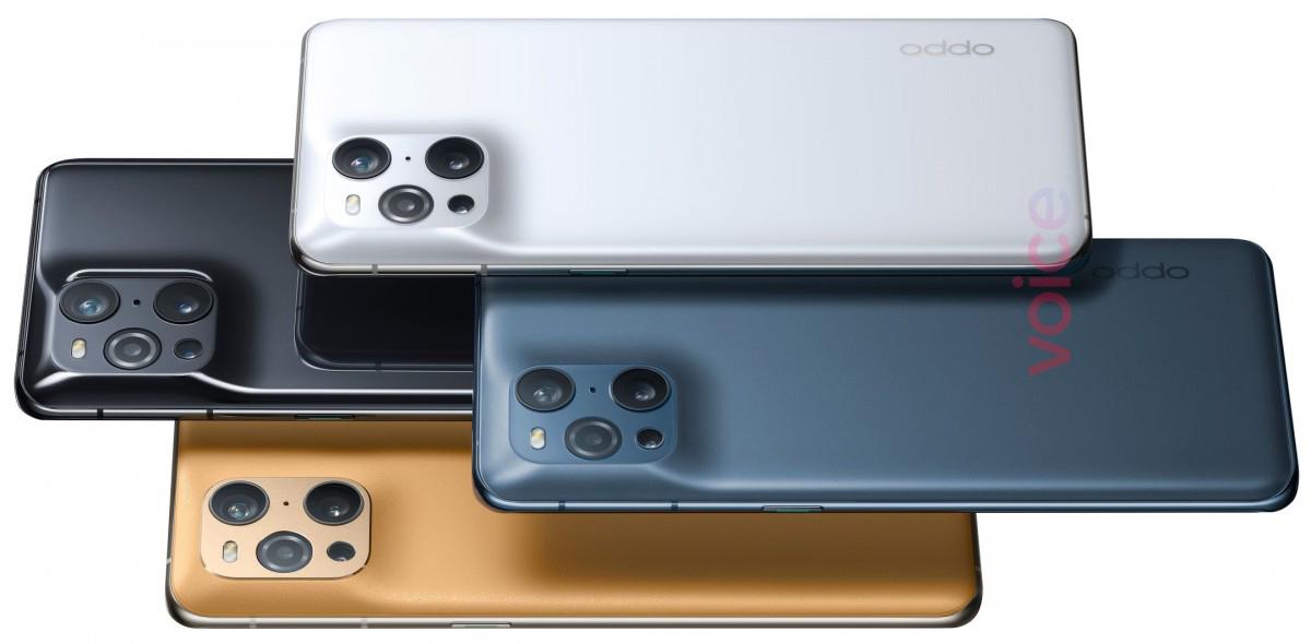 OPPO Find X3 Pro renderiza la cámara con fugas de marzo