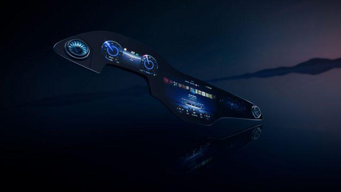 Mercedes Benz MBUX Hyperscreen EQS Electric Car