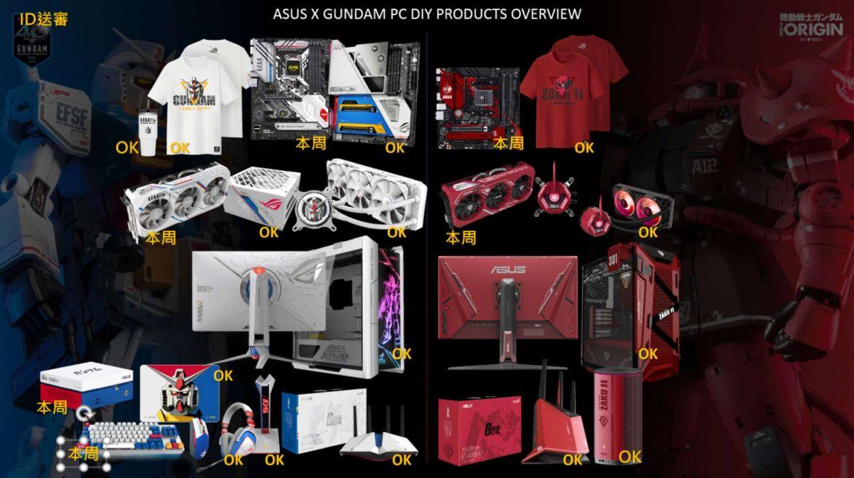 Productos temáticos ASUS Gundam