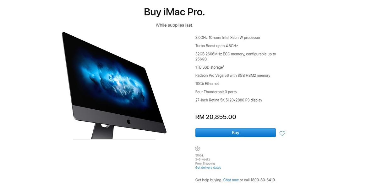 Apple suspende el modelo iMac Pro