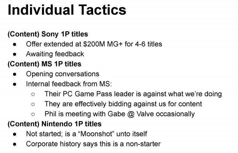 Epic Games propuso el pago de exclusivas