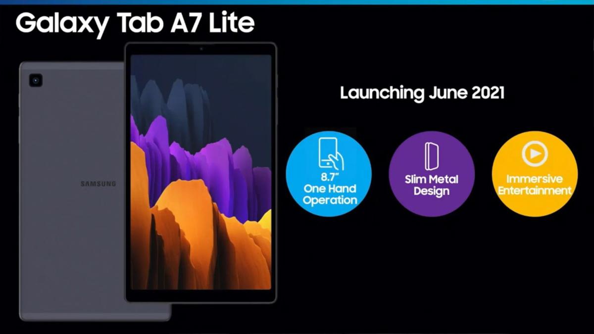 Lanzamiento de junio de Samsung Galaxy Tab S7 Lite Leak