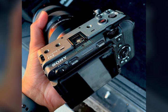 sony FX3 Cinema Line camera leaks