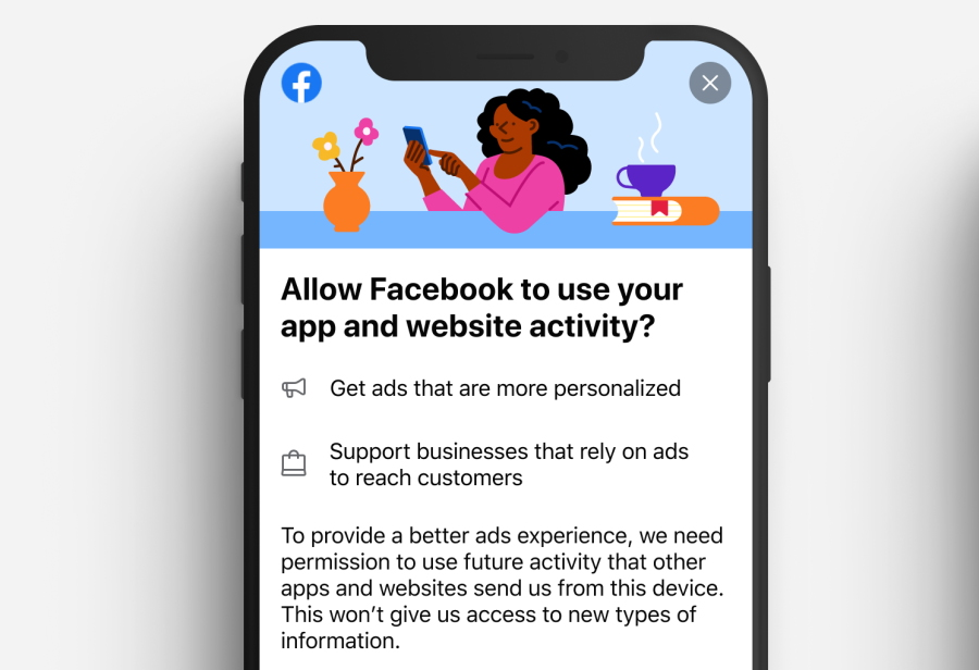 Aviso de privacidad de Facebook de Apple iOS 14