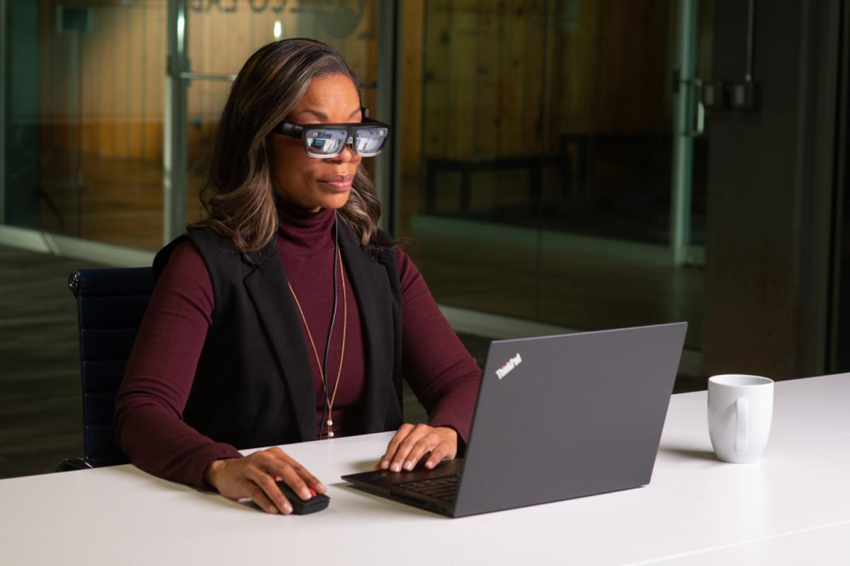 Gafas Lenovo ThinkReality A3 AR Enterprise CES 2021