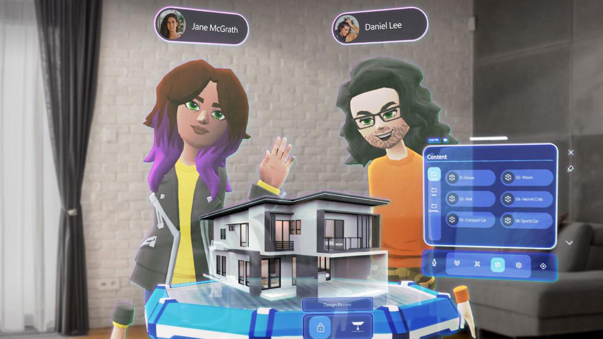 plataforma colaborativa de realidad mixta microsoft mesh
