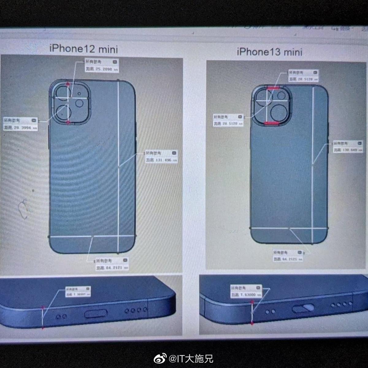 Fugas de diseño del iPhone 13 mini