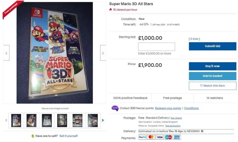 Scalper de Super Mario 3D All-Stars