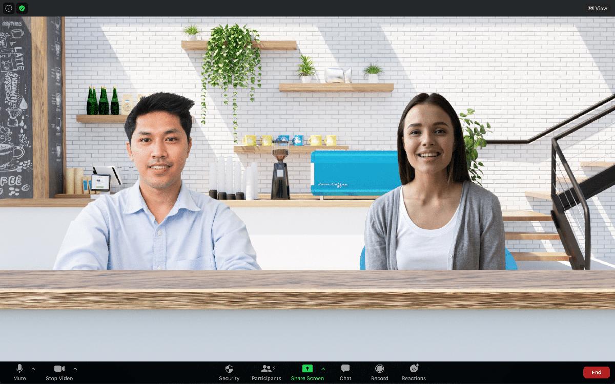 Fondos virtuales del cliente de escritorio Zoom Immersive View