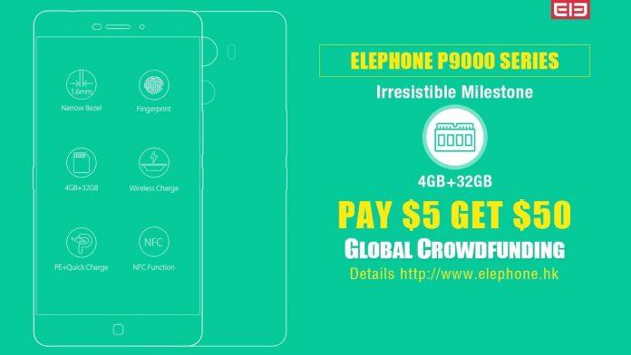 Elephone avvia un progetto di crowdfunding e sconti dedicato a P9000 e P9000 Lite (foto)